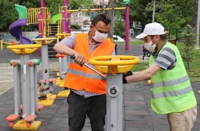 Safranbolu'da Park Ve Bahçelerde Onarım Çalışması