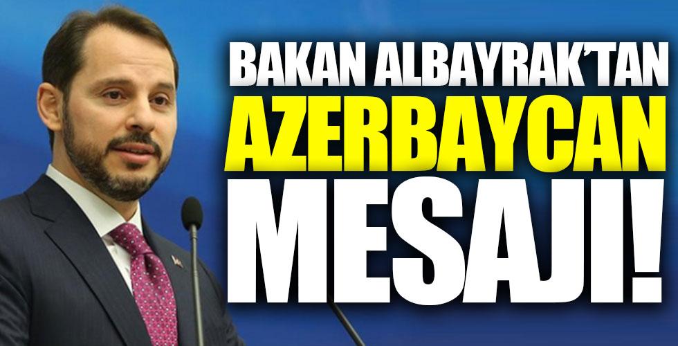 Bakan Albayrak'tan Azerbaycan mesajı!