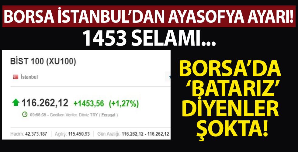 Borsa İstanbul güne 1.453 puanlık yükselişle başladı
