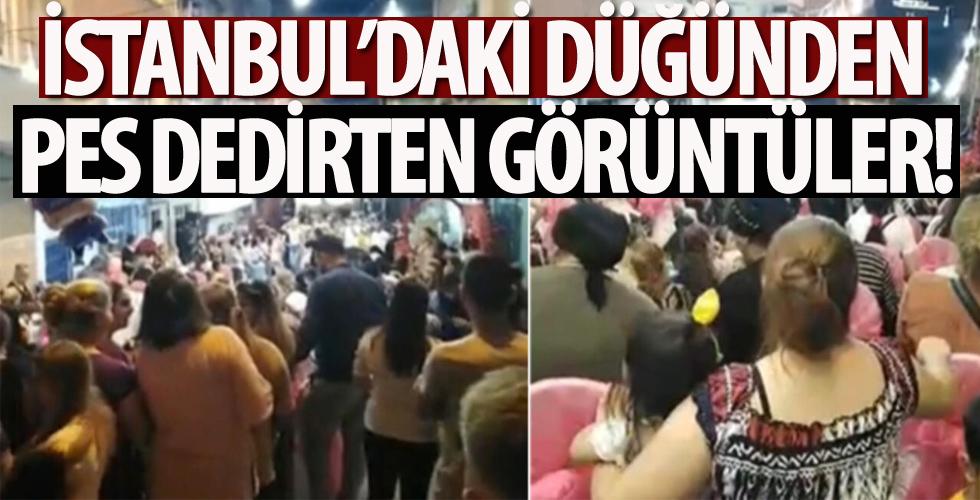"""İstanbul'daki düğün eğlencesinde """"pes"""" dedirten görüntüler"""