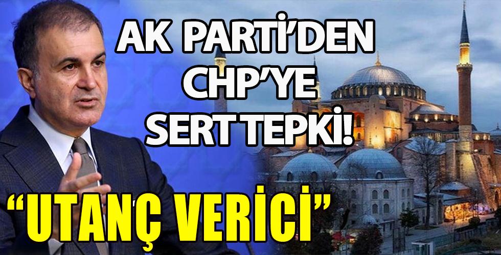 AK Parti'den CHP'ye Ayasofya tepkisi!