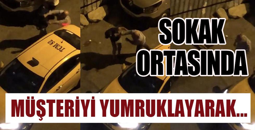 Ataşehir'de taksici terörü! Müşteriyi yumruklayıp yere serdi...