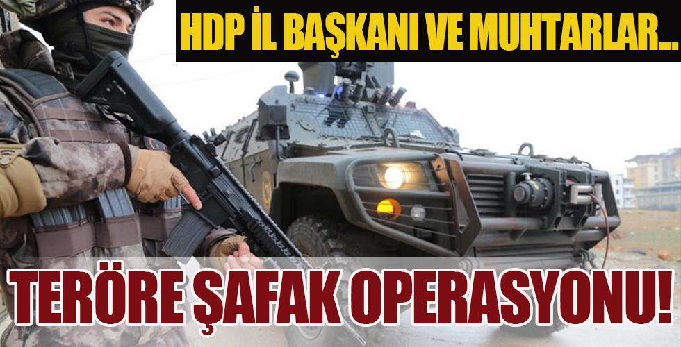 Gaziantep'te terör örgütü PKK'ya şafak operasyonu! HDP İl Başkanı ve muhtarlar için gözaltı kararı...