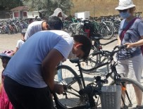 GÖLBAŞI - Ankaralılar bisikletle Eymir Gölü'nün tadını çıkarıyor