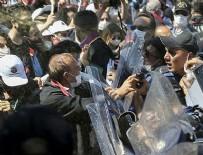 ANKARA EMNİYET MÜDÜRLÜĞÜ - İzinsiz gösteri yapan avukatlar polise saldırdı!