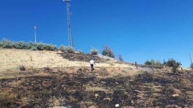 Mezarlıkta Çıkan Yangın Büyümeden Kontrol Altına Alındı
