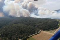 HELIKOPTER - Bakan Pakdemirli'den Gelibolu'daki orman yangınıyla ilgili açıklama