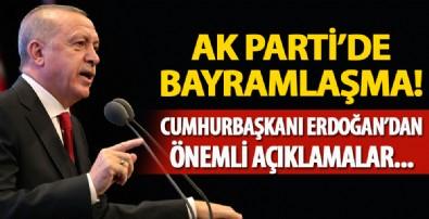 AK Parti'de bayramlaşma! Cumhurbaşkanı Erdoğan'dan önemli açıklamalar