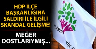 HDP Bakırköy İlçe Başkanlığı'na saldıran kişiyle ilgili skandal gelişme! Meğer dostlarıymış...