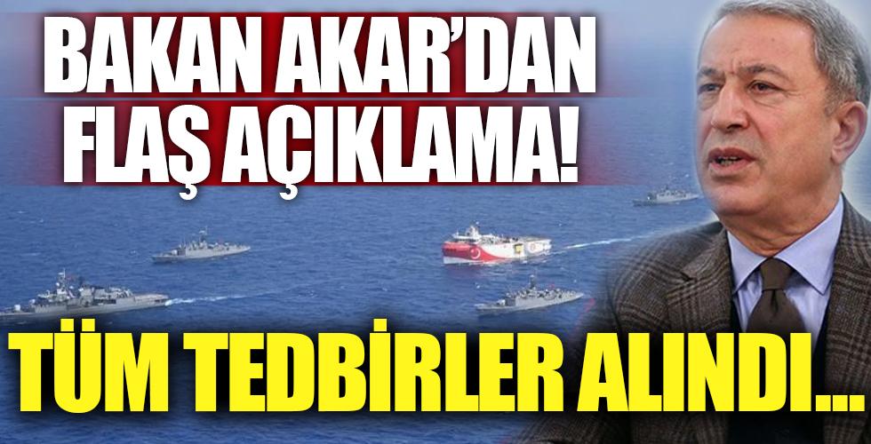 Hulusi Akar'dan flaş Doğu Akdeniz açıklaması!
