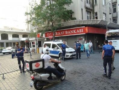 Taksim'de dehşet anları! Tiner döküp kardeşini ateşe verdi