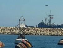 ASKERİ HAVA ÜSSÜ - Türk savaş gemisi ve helikopteri Libya'da