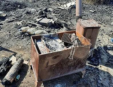 Manavgat'ta söndürülmeyen mangal ateşi, ormanı yaktı