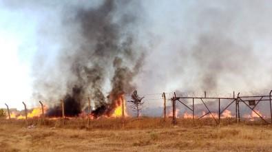 Tekirdağ'da Askeri Kışlada Yangın