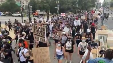 ABD'de 'Dizinizi Boynumuzdan Çekin' Temalı Protesto
