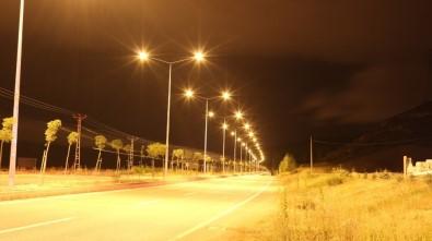 Aras EDAŞ, Bayburt Sanayi Bölgesi'ndeki 3 Kilometrelik Yol Işıklandırmasını Tamamladı
