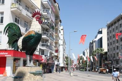Denizli Türk Bayrakları Ve Atatürk Posterleri İle Donatıldı