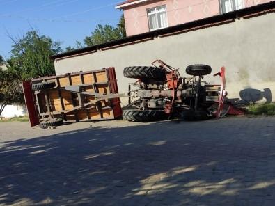 Malkara'da Traktör Devrildi Açıklaması 1 Yaralı