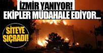 HELIKOPTER - İzmir'deki yangın tahliye edilen siteye sıçradı!
