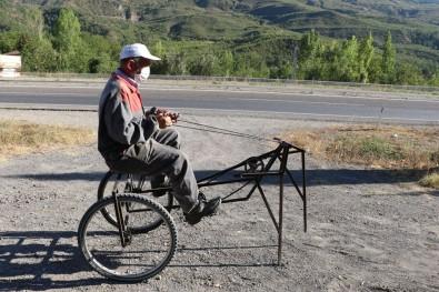 66 Yaşındaki İşçi Emeklisi Çekirge Gibi Araç Yaptı