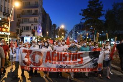 Antalya'da 30 Ağustos Zafer Yürüyüşü