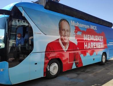 Muharrem İnce'nin parti otobüsüne Beyaz Gazete ulaştı...