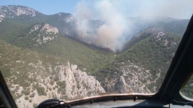 İzmir'de Orman Yangını Açıklaması Ekipler Müdahale Ediyor