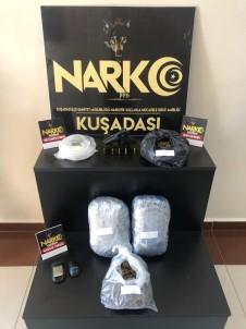 Kuşadası Polisi 3 Kilo Skunk Ve Kristal Uyuşturucu Ele Geçirdi