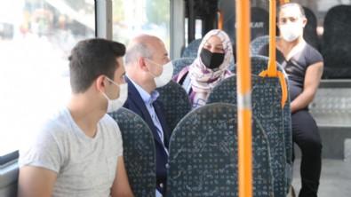 İçişleri Bakanı Süleyman Soylu Mamak'ta halk otobüsüne bindi!