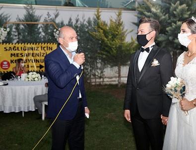Bakan Soylu düğünleri bizzat denetledi!