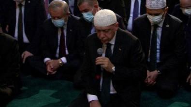 Cumhurbaşkanı Erdoğan Ayasofya Camii'nde