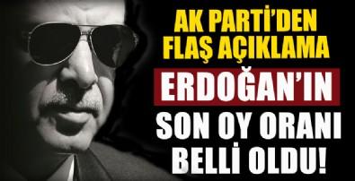 Erdoğan'ın oy oranı belli oldu!