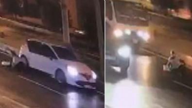 Görenler şoke oldu! Kadını otomobilden attılar!