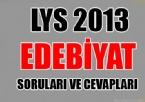 LYS 2013 Edebiyat Soruları ve Cevapları