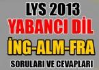 LYS 2013 Yabancı Dil Soruları ve Cevapları