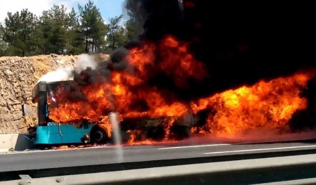 kavacik - İstanbul'da Halk Otobüsü Yangını: 4 Ölü