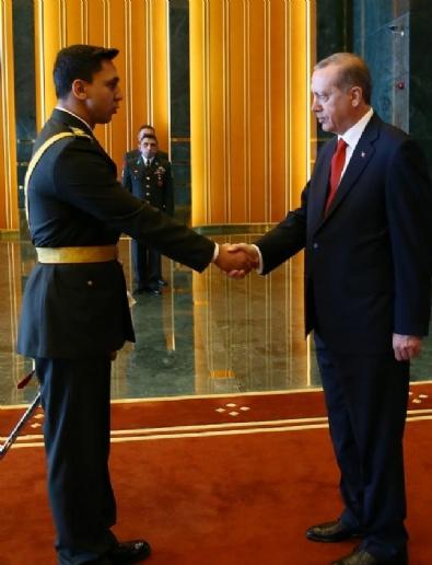 Erdoğan külliyede tebrikleri kabul etti