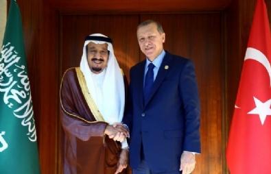 Cumhurbaşkanı Erdoğan Kral Selman İle Görüştü