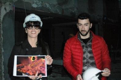 HANDE YENER - Hande Yener Baretini Taktı İnşaata Girdi