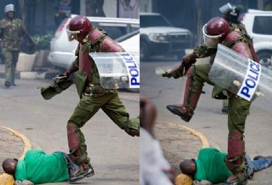 Kenya polisinden sert müdahale