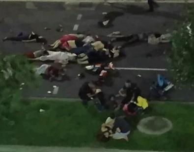 Fransa'daki saldırıdan şoke eden görüntüler