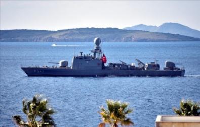 DENİZ KUVVETLERİ - Orgeneral Akar, Egede Gemileri Denetledi