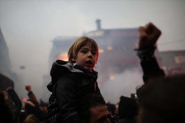lyon - Beşiktaş Taraftarı Dev Maça Hazır