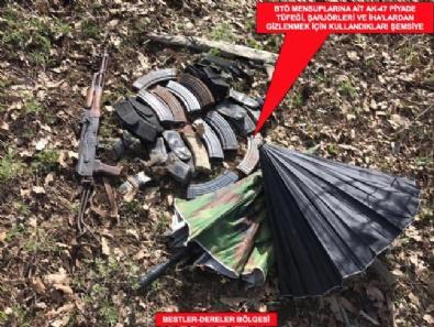 Şırnak'ta PKKya Ait Çok Sayıda Mühimmat Ele Geçirildi