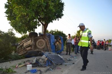 Askeri araç takla attı: 8 yaralı
