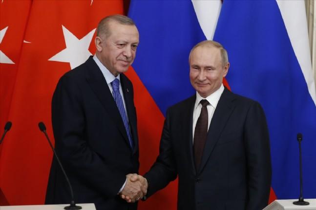 recep tayyip erdogan - Erdoğan Putin Görüşmesinden Kareler!