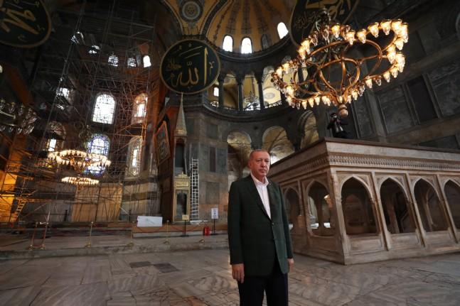 Başkan Erdoğan Ayasofyada
