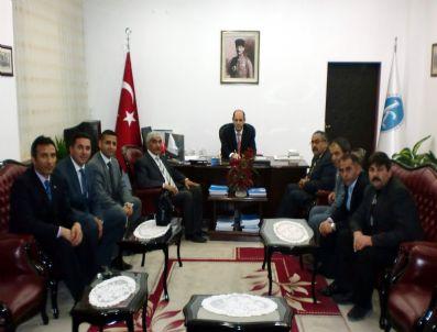 HARUN YENICE - Türk Eğitim Sen'den Rektör Özcan'a Ziyaret
