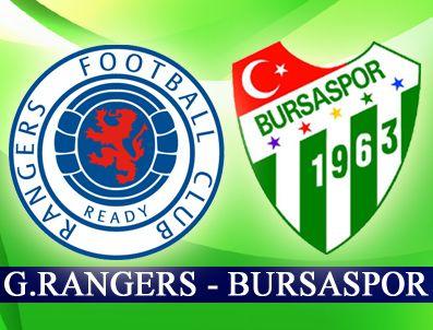 UNIREA URZICENI - Bursaspor deplasmanda Glasgow Rangers'a konuk oluyor