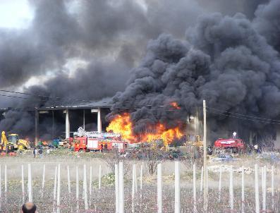 Soğuk Hava Deposunda Korkutan Yangın